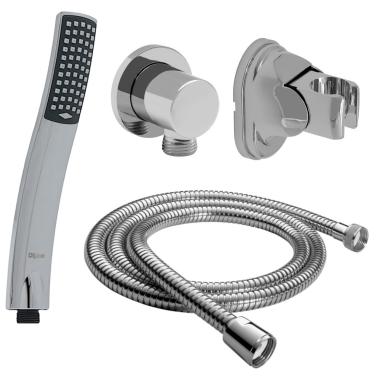Duschbrause Handbrause Dusche Schlauch 150 cm mit Wandanschluss + Brausehalter