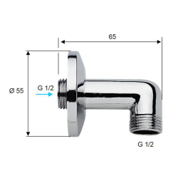 Design Handbrause rund Duschbrause mit Schlauch 150 cm Halterung  Wandanschluss