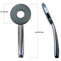 Design Handbrause Duschbrause mit Schlauch 200cm Brause Halterung  Wandanschluss