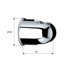 Brausehalter / Wandhalter - rund -  für Handbrause...