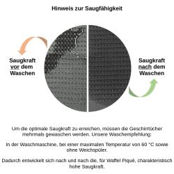 6x Geschirrtuch aus 100% Baumwolle Waffel-Piqué in türkis / Küchentuch / Putztuch