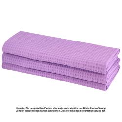30x Geschirrtuch aus 100% Baumwolle Waffel-Piqué in lila / Küchentuch / Putztuch