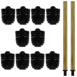 10x Ersatz-Bürstenkopf schwarz + 2x Griff 26 cm...