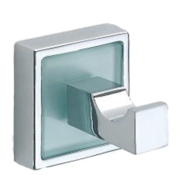 Design Handtuchhaken mit Glaseinlage / Glaseinsatz für ein modernes Bad