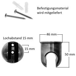 Brausehalter / Wandhalter  für Handbrause, aus Messing, Altkupfer-Optik, OLD COPPER