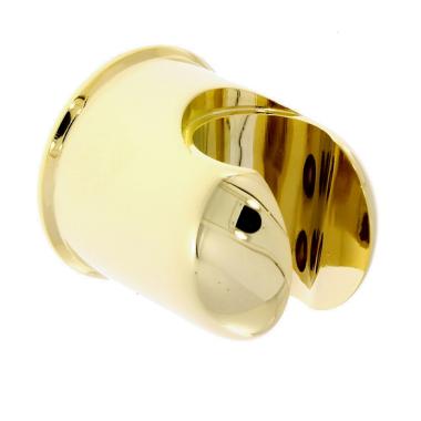Brausehalter / Wandhalter - rund -  für Handbrause mit gold Oberfläche
