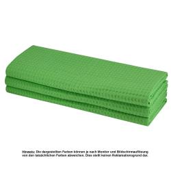9x Geschirrtuch aus 100% Baumwolle Waffel-Pique in hellgrün /Küchentuch / Putztuch