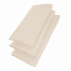 3er Pack Servietten 44cm x 44cm aus 100% Baumwolle in Beige
