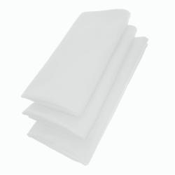 3er Pack Servietten 44cm x 44cm aus 100% Baumwolle in Weiss