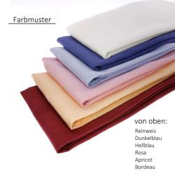 9er Pack Servietten 44cm x 44cm + Tischdecke 100% Baumwolle in Weiss