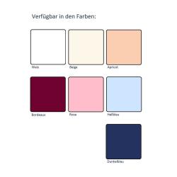 6er Set Stoffservietten 44cm x 44cm Textil Servietten 100% Baumwolle in Apricot