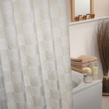 Textil Duschvorhang / Brausevorhang / Vorhang / Dusche - Model: Nature - 180 x 200 cm