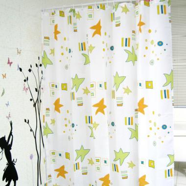 Duschvorhang / Brausevorhang / Vorhang / Dusche Duschgardine180 x 200 cm Grün Orange