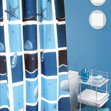 Duschvorhang / Brausevorhang / Vorhang / Dusche Duschgardine180 x 200 cm Blau Meer