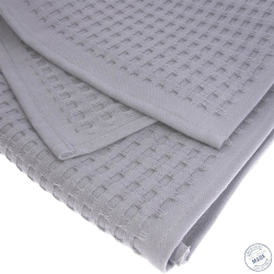 2x Handtuch Gästetuch in Wafelpikee 100 x 50 cm aus...