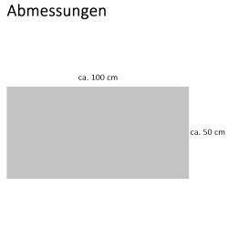 2x Handtuch Gästetuch in Wafelpikee 100 x 50 cm aus Baumwolle / Pique Wabengewebe grau