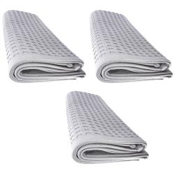 3x Handtuch Gästetuch in Wafelpikee 100 x 50 cm aus...