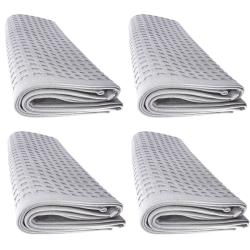 4x Handtuch Gästetuch in Waffelpique 100 x 50 cm aus...