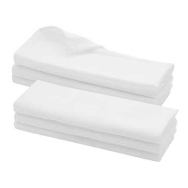 6x Geschirrtuch / Küchentuch Putztuch aus 100% Baumwolle in weiss
