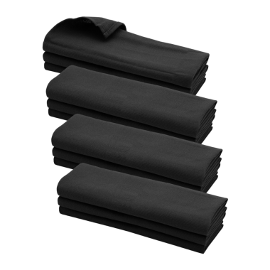 12x Geschirrtuch / Küchentuch / Putztuch / Poliertuch aus 100% Baumwolle schwarz