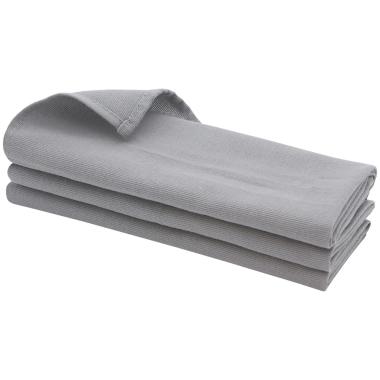 3x Geschirrtuch / Küchentuch / Putztuch / Poliertuch aus 100% Baumwolle in grau