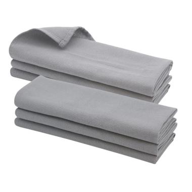 6x Geschirrtuch / Küchentuch / Putztuch / Poliertuch aus 100% Baumwolle in grau