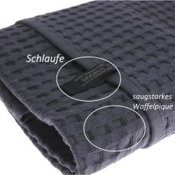 3x Handtuch Gästetuch in Waffelpiqué 100 x 50...