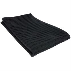 Handtuch Gästetuch in Waffelpiqué 50 x 30 cm / Baumwolle / Abschminktuch schwarz