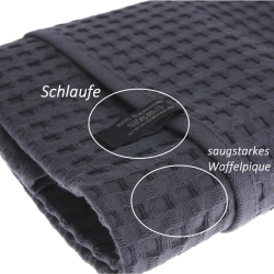 Duschtuch Badetuch Waffelpiqué 130x70 cm /...