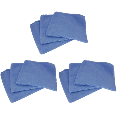 9x Profi Mikrofasertücher Poliertücher Reinigungstücher Auto Lack blau 40x40cm