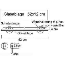 Design Badezimmerablage aus Glas / Glasablage / Bad -...