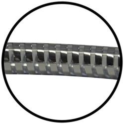 Brauseschlauch / Duschschlauch / Handbrauseschlauch - 150 cm Länge, Kst. / transp. / Chrom