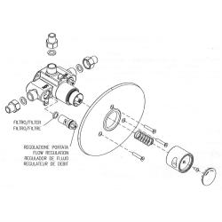Zeitgesteuerte Unterputz-Mischerarmatur - Dusche - Kalt/Warm - selbstabschaltend