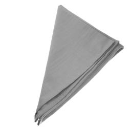 6er Pack Textil Servietten 45 x 45cm 100% Baumwolle 4 seitig eingesäumt Grau