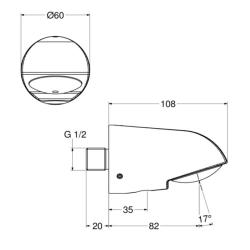 3x Dusch Set Zeitgesteuerte Unterputz-Mischerarmatur mit Duschkopf - Dusche - Kalt/Warm - selbstabschaltend