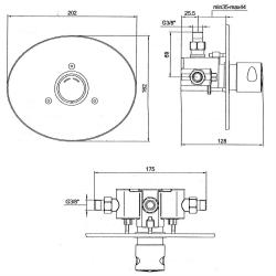 Dusch Set Zeitgesteuerte Unterputz-Mischerarmatur mit Duschkopf - Dusche - Kalt/Warm - selbstabschaltend