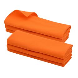 6x Geschirrtuch / Küchentuch / Putztuch / Poliertuch aus 100% Baumwolle orange