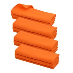 12x Geschirrtuch / Küchentuch / Putztuch Poliertuch aus 100% Baumwolle orange