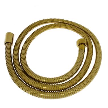 Duschschlauch Brauseschlauch Schlauch Handbrausenschlauch vergoldet Gold 150 cm