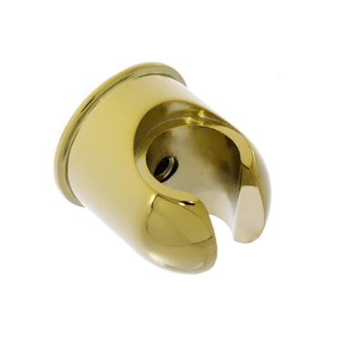Brausehalter / Wandhalter Duschhalter - rund -  für Handbrause mit gold Oberfläche
