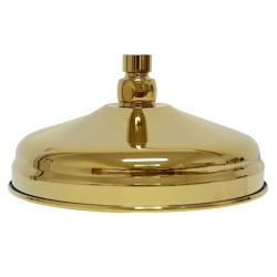 Retro Regenbrause Regendusche Brausekopf Ø 20 cm 78 Düsen - Gold - mit Wandarm