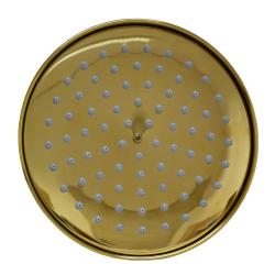 Regenbrause - Regendusche - Brausekopf Ø 20 cm 78 Düsen - Gold
