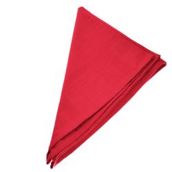 9er Pack Textil Servietten 45 x 45cm 100% Baumwolle 4 seitig eingesäumt Rot