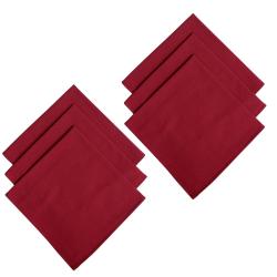 6er Pack Servietten 45cm x 45cm aus 100% Baumwolle in...