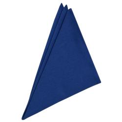 3er Pack Servietten 45cm x 45cm aus 100% Baumwolle in Blau