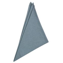 6er Pack Servietten 45cm x 45cm aus 100% Baumwolle in Grau