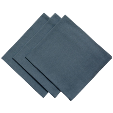 3er Pack Servietten 45cm x 45cm aus 100% Baumwolle in Anthrazit