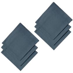 6er Pack Servietten 45cm x 45cm aus 100% Baumwolle in Anthrazit