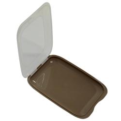 3x Stapelbare Aufschnittbox Frischhaltedose Wurst Behälter Aufschnittdose Braun