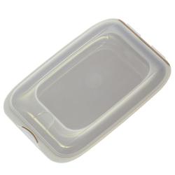 4x stapelbare Aufschnittbox Frischhaltedose Wurst Behälter Aufschnittdose Braun